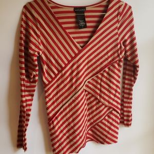 4/$25 Metaphor Striped S/M Blouse
